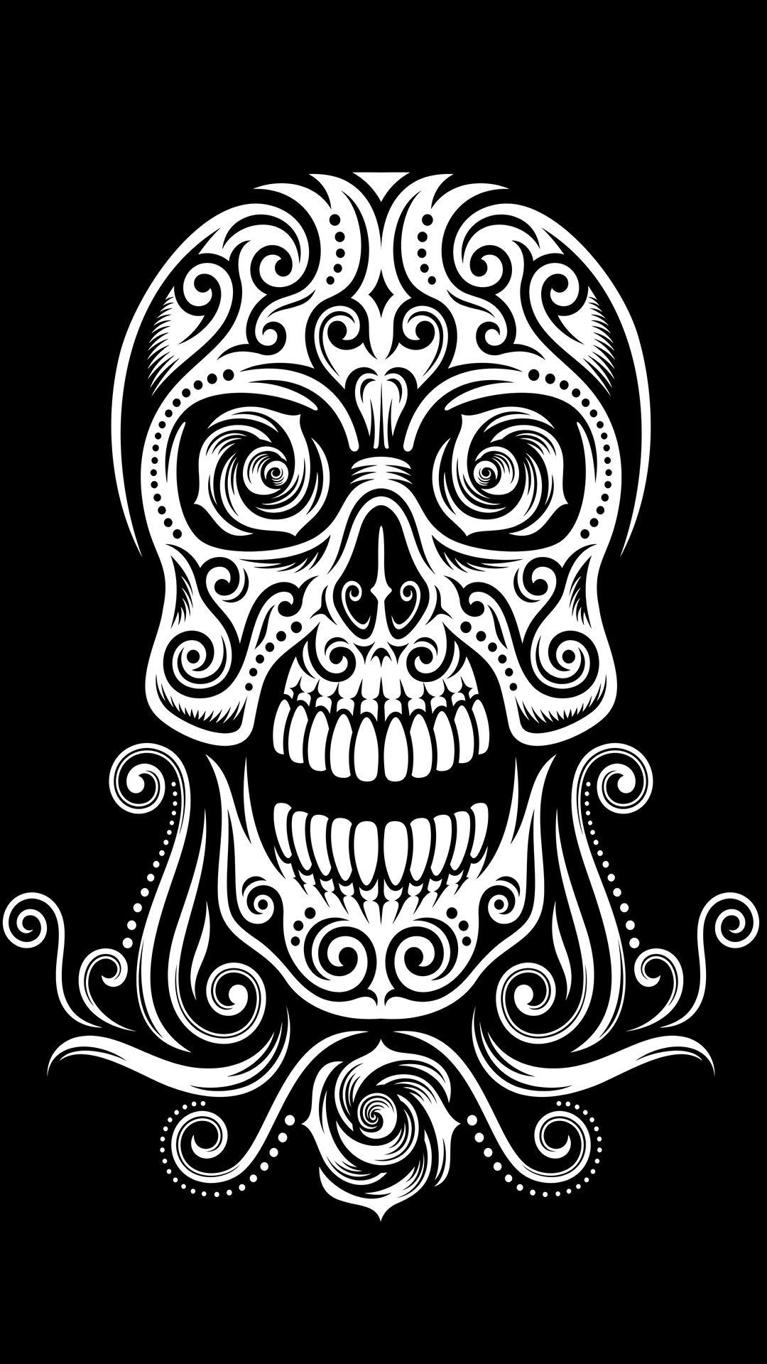 Tap And Get The Free App Hard Skull Black Tribal Beautiful
