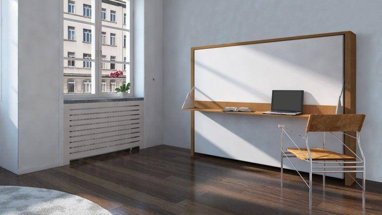 Lit Armoir Lits Donny 160 X 200 Avec Bureau Pliable Un Lit Moderne Pour Petits Bedroom Design Home Decor Home