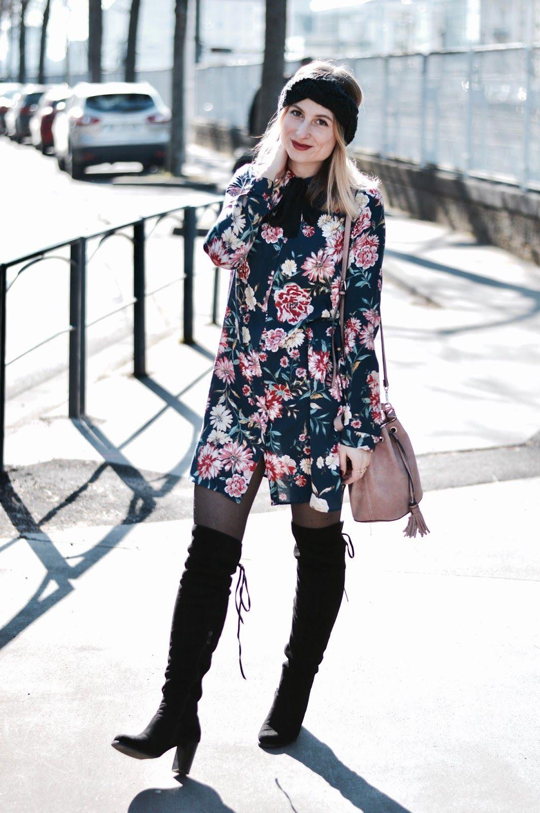 c37bb55049b Look femme   robe chemise fleurie Pimkie et cuissardes