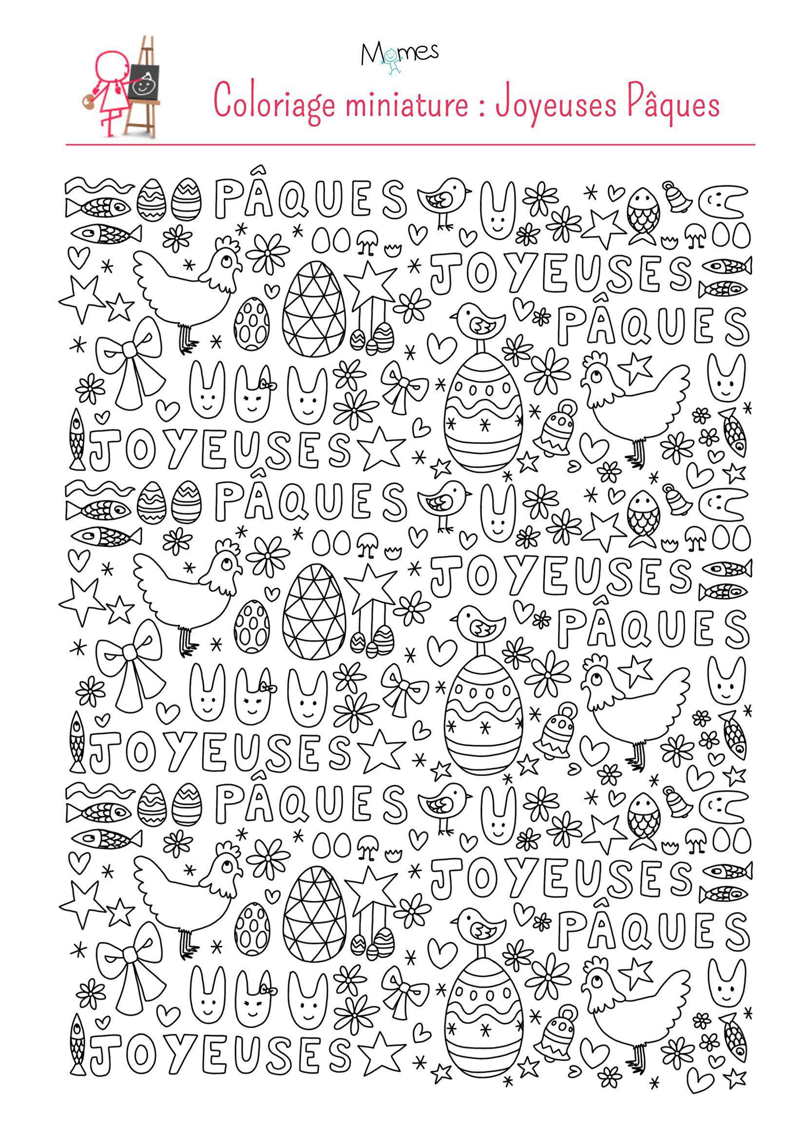 Coloriage de p ques par astridm p ques easter easter activities et easter crafts - Coloriages d animaux ...