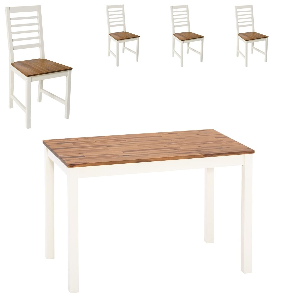 Essgruppe Hornsyld/Fanø (70x115, 4 Stühle, creme-weiß) Jetzt ...