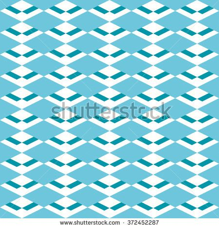 Seamless diamond pattern. Vector background. Geometric abstract texture  in shades of blue