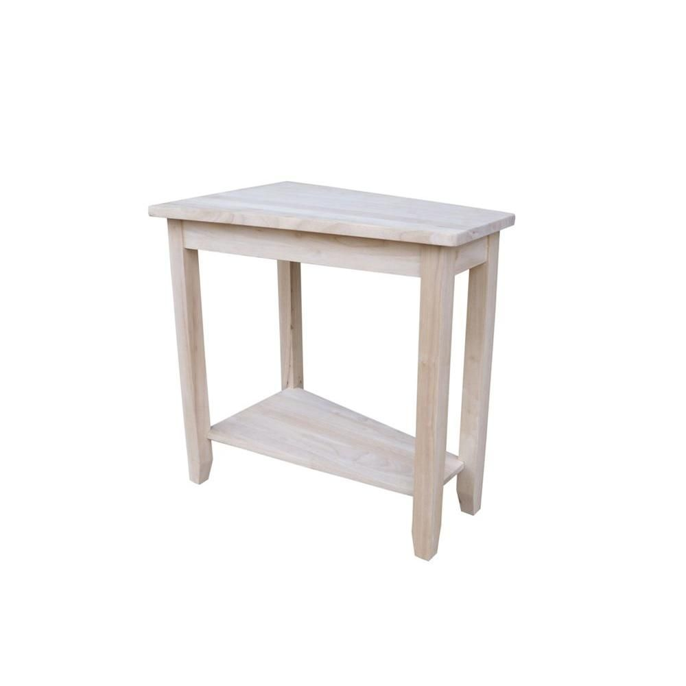 Table Unfinished Wood International Concepts Keystone Unfinished End Table Products