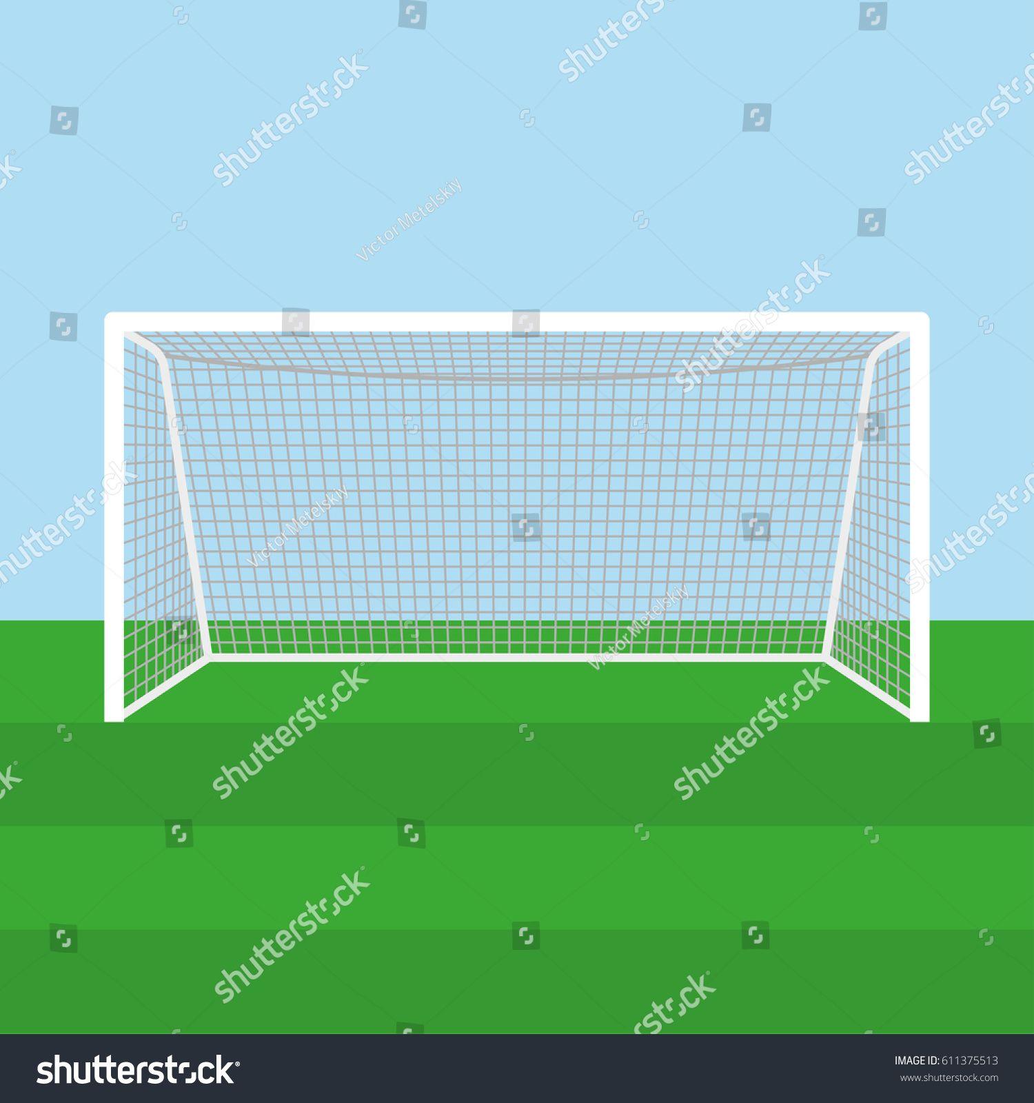 Soccer Goal Or Football Goal Vector Illustration Ad Ad Goal Soccer Football Illustration Goals Football Soccer Goal Football Illustration