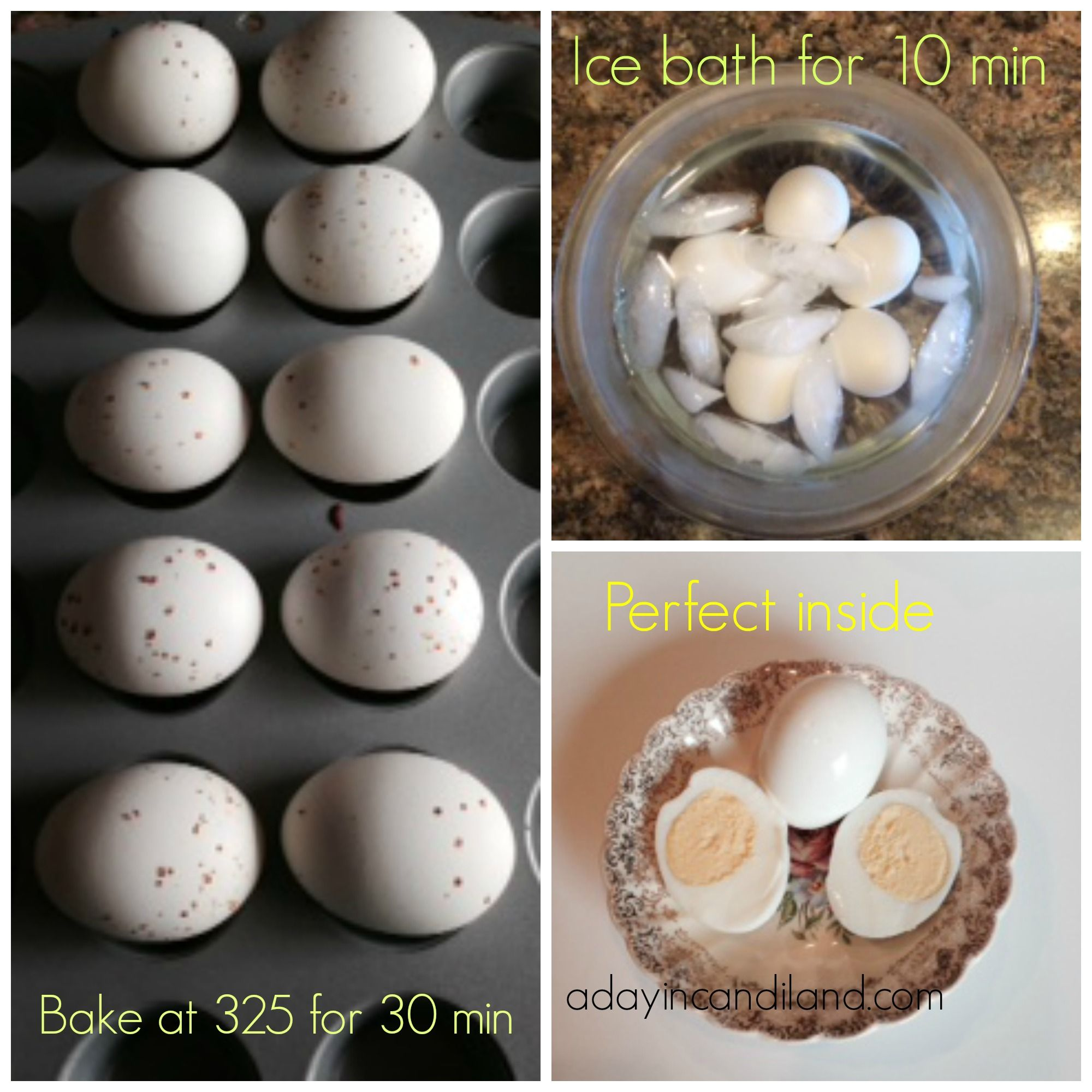 1 Preheat Oven To 325 Degrees F 175 Degrees C 2 Put 1 Egg In Each Of The Muffin Cups 3 Bake In Prehe Baked Hard Boiled Eggs Easy Baking Hard Boiled Eggs