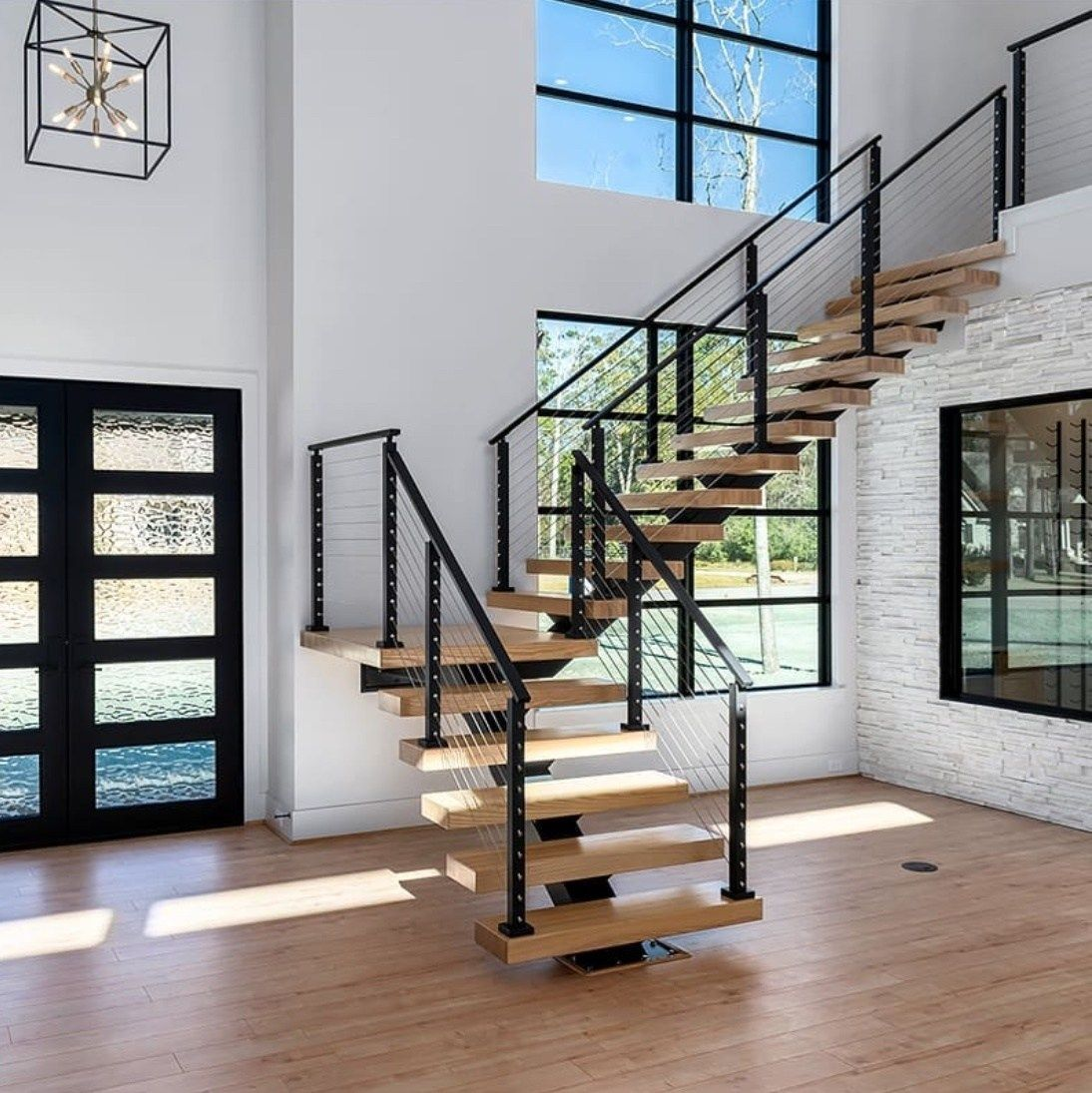 how do you make floating stairs