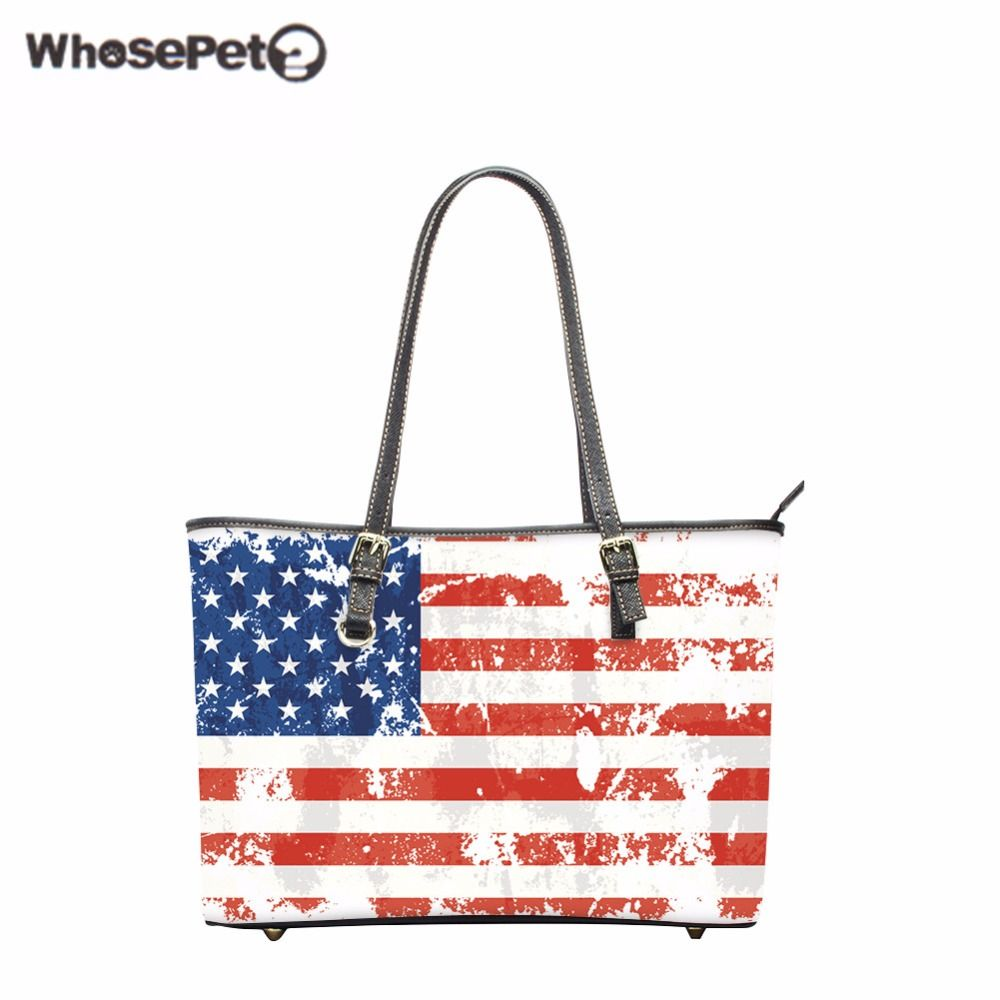 52dc64f504 WHOSEPET UK US Flags Printing Shop Online Handbags Women's Beach Handbag  Fashion Totes Bags Zipper Large Capacity Shoulder Bags | Get free shipping.
