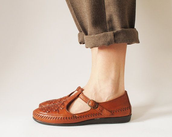 t-strap woven loafers size 9.5 $36