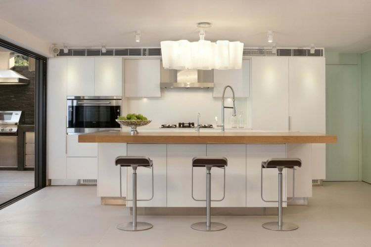 Weiße, moderne Küche Wohnideen Küche Pinterest - moderne kuche