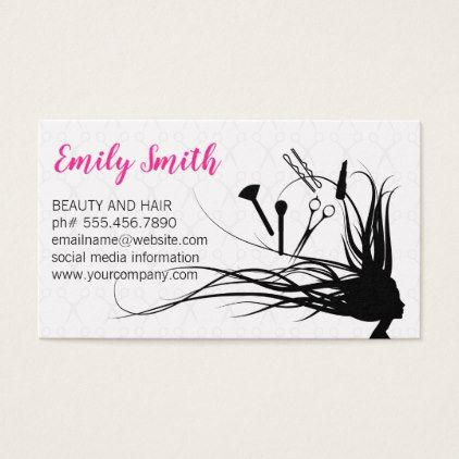 Hair And Makeup Tools Business Card Zazzle Com Business Cards Hair Salon Makeup Tools Top Makeup Products