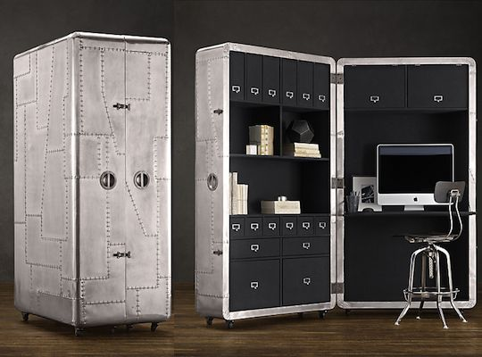 secretary desk restoration hardware private label aviator areo ebay