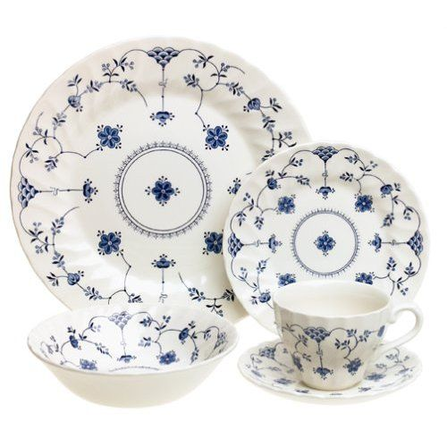 Churchill China Finlandia Tableware Design Blue And White China Dinnerware