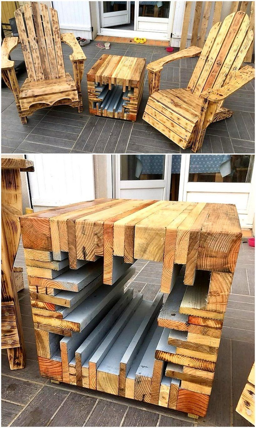 Inspirational DIY Ideas for Pallet Recycling - Wood pallet recycling, Wooden pallet furniture, Pallet projects furniture, Wooden diy, Pallet diy, Wood pallets - Using old and recycled material for the creation of new ideas and products is not a new thing  This inspirational activity of recycling is …