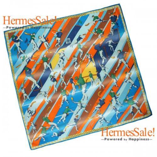 Hermes Pilotari 140cm Blue Cashmere Shawl