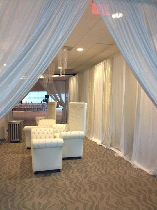 Just a touch of shimmer in the drapes.....beautiful!  www.bigtopentertainment.biz