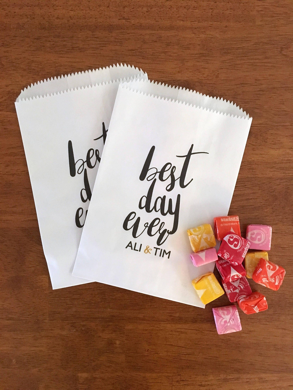 LINED Wedding Donut Bags. Wedding Candy Bar Bags. Custom Donut Favor ...