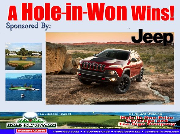 Jeep Hole In One Prize Insurance Plus All Promotions For Jeep Dealers Sports Contests Specialty Prize Insurance Promotions 203 831 Jeep Dealer Jeep Hole In One