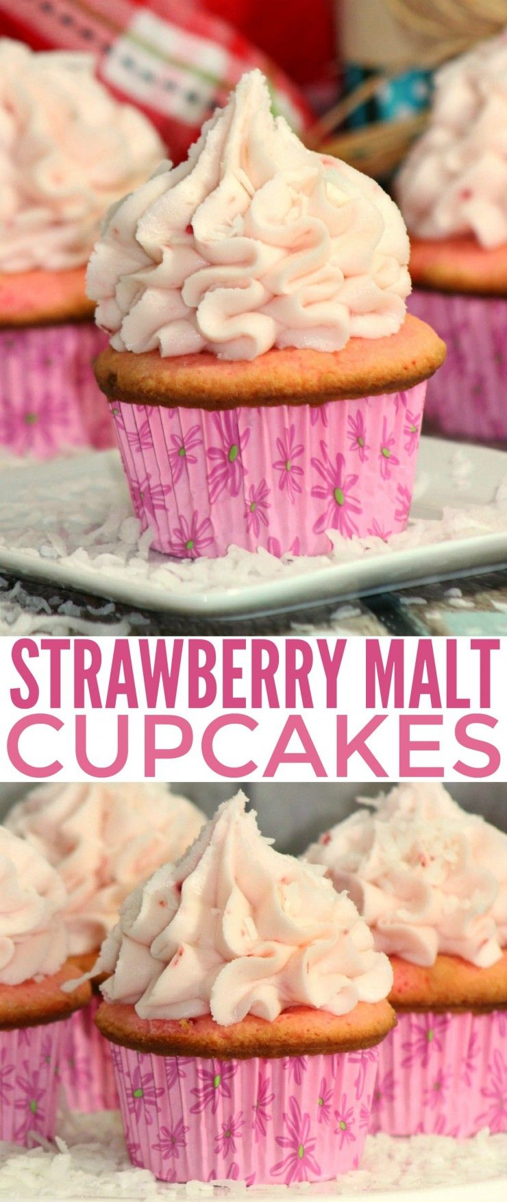 This Strawberry Malt Cupcakes recipe is one of my favourites. A luscious cupcake overflowing with the delicious summer flavour of strawberries.