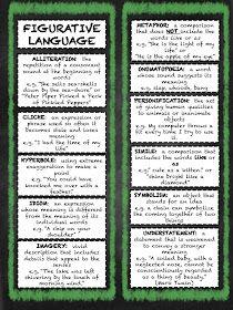 Teachingisagift: Figurative Language Bookmarks Manic Monday FREEBIE