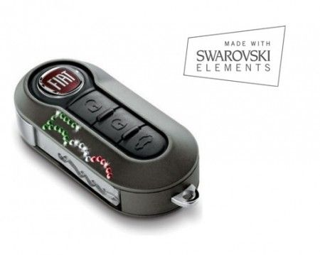 Genuine Fiat 500 SPORTS PACK  Pair of Key Remote Covers Ivory  71805963 NEW
