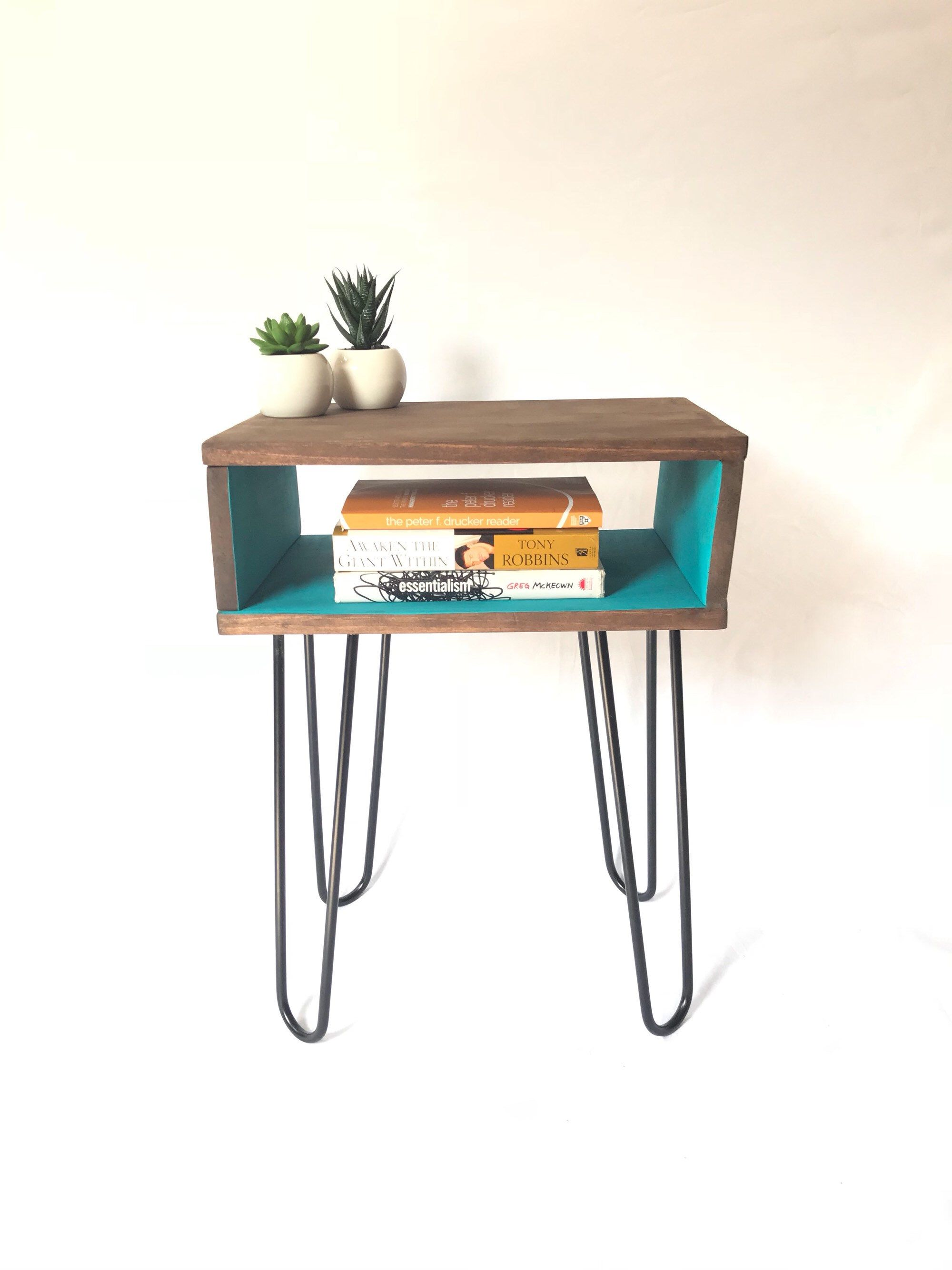 Record player turntable stand vinyl lp storage mid century