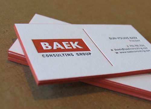 Creative Examples of Letterpress Business Cards Design - 1 - Letterpress Business Card