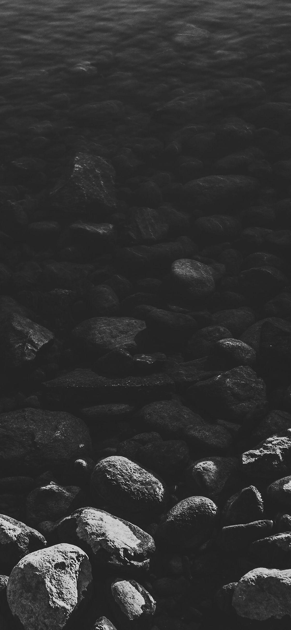 Iphonex Wallpaper Mm96 Stone Dark Bw Lake Nature Water Nature
