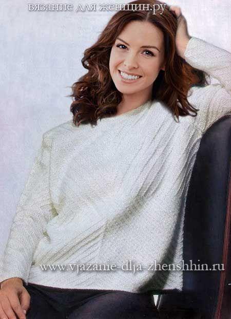9ea7a02cc6e Вязание свитера спицами с описанием и схемой