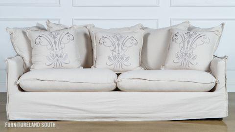 Synergy Home Furnishings Llc Flange Sofa With Slip Cover