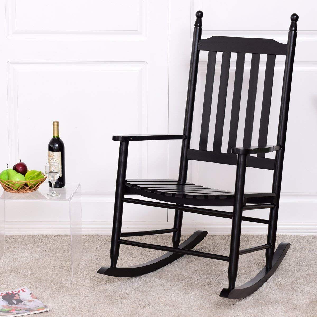 Giantex Wood Outdoor Rocking Chair, Wooden