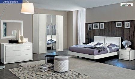 Dama Bianca Bedroom Set in White High Gloss | Bedroom Sets | Modern ...
