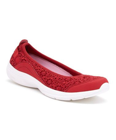 Medium Red Quelle Flat #zulily #zulilyfinds