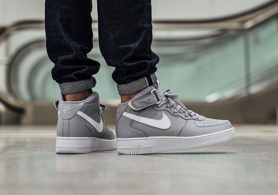 Buy nike air force one mid grey \u003e up to