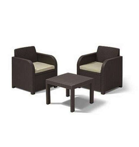 Atlanta Rattan Piece Balcony Set Brown With Chairs Coffee - Table pads atlanta