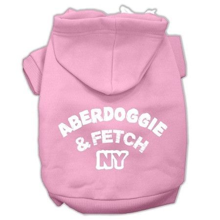 Aberdoggie NY Screenprint Pet Hoodies Light Pink Size XL (16)