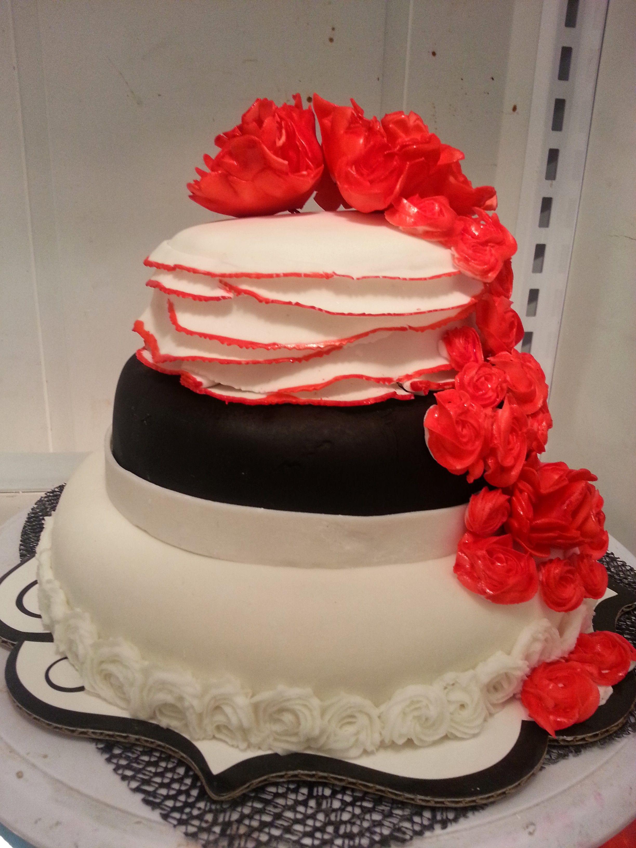 Small Black Cake Ideas 90806 Small Black White Red Wedding