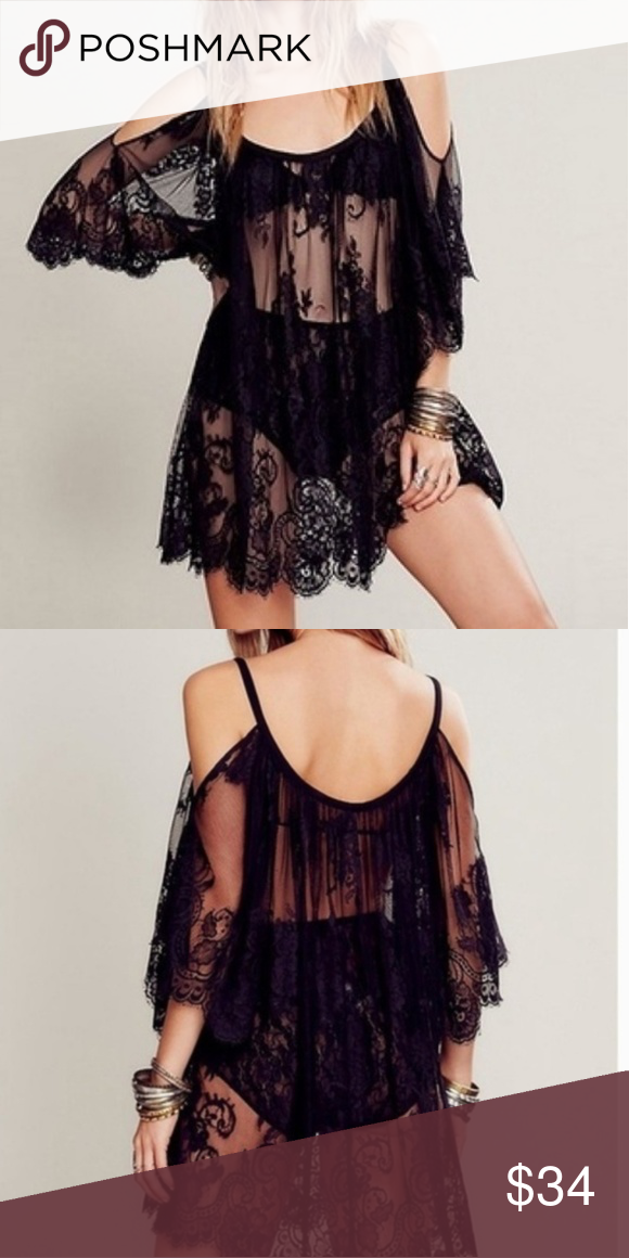 Black Lace Cover-Up Dress