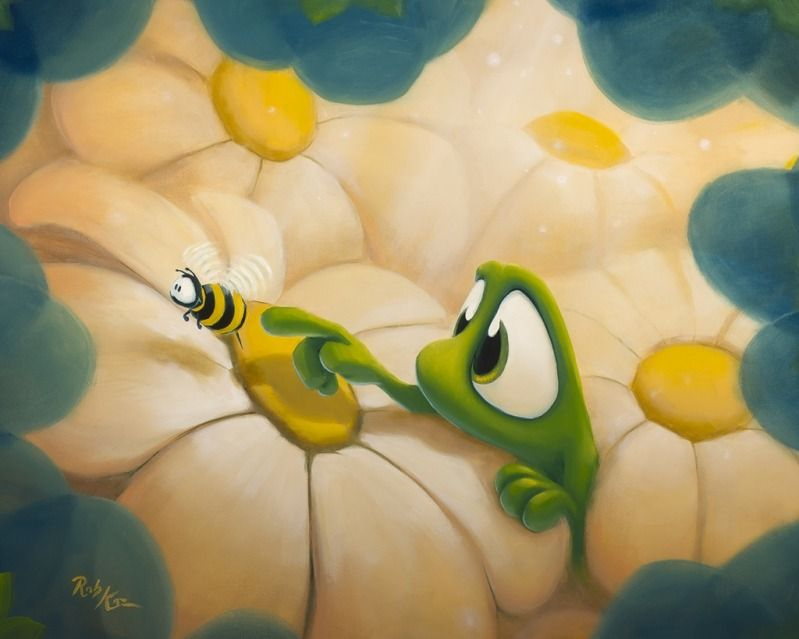 Rob Kaz - Bee Mine - original oil on canvas painting - Available at ...