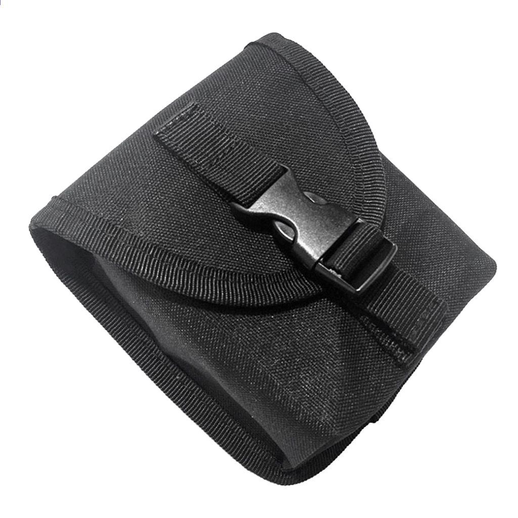 Spare Nylon Scuba Diving Weight Belt Pocket with Quick Release Buckle Black