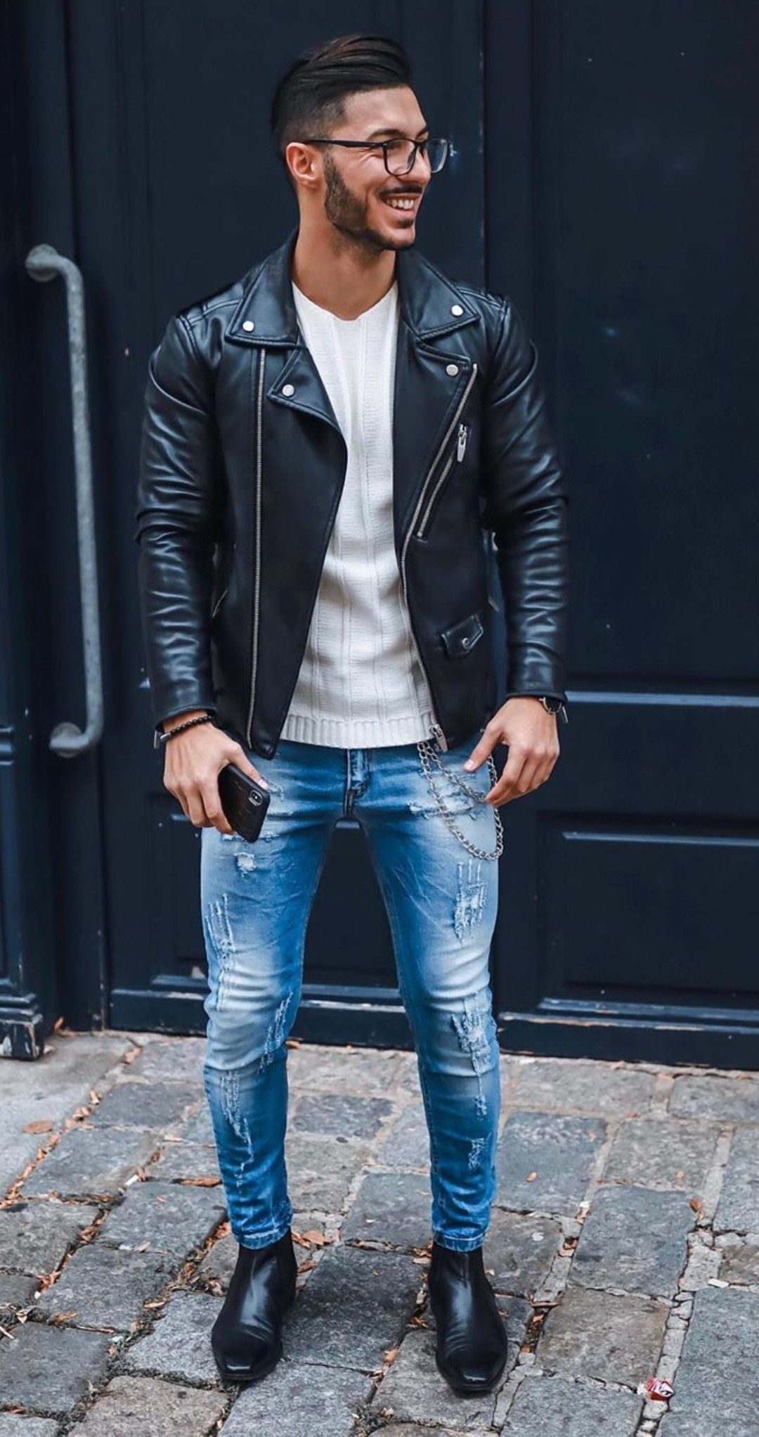 Pin By Erik Hendriksen On Denim Life Leather Jacket Outfits Leather Jacket Black Leather Jacket Outfit [ 2043 x 1080 Pixel ]