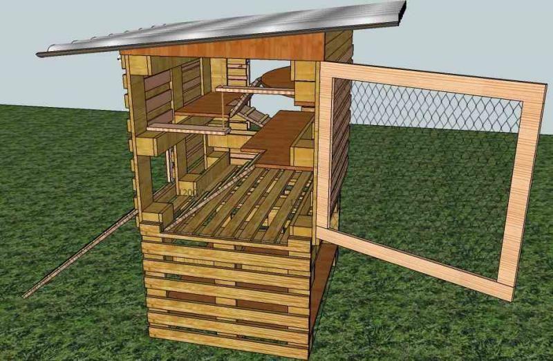 Construire Un Poulailler En Palette Maison Design Apsip Com Poulailler Palette Poulailler Maison Plan Poulailler