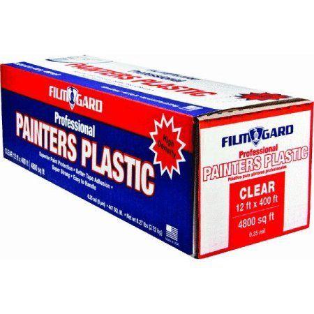Home Improvement Plastic Drop Cloth Pink Plastic The Unit