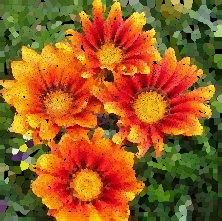 Flowers Mosaic by Cornejo-Sanchez.deviantart.com
