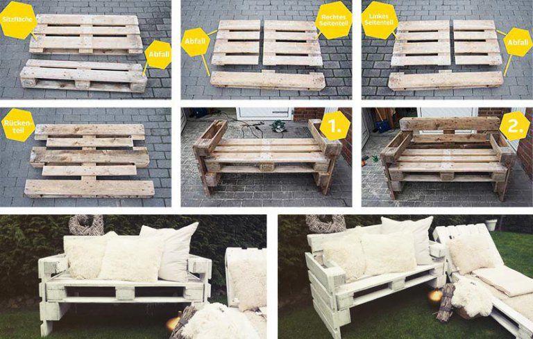 Gartenmöbel aus Paletten bauen ⇒ Schritt für Schritt ✓ Bauanleitung ✓