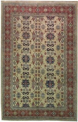Handwoven Unique Kazak 9x14 Wool Pile Area Rug Beige Dear Shopper Thank You For Showing Interest In Our Huge Collection Of Hand Rugs Hand Weaving Area Rugs