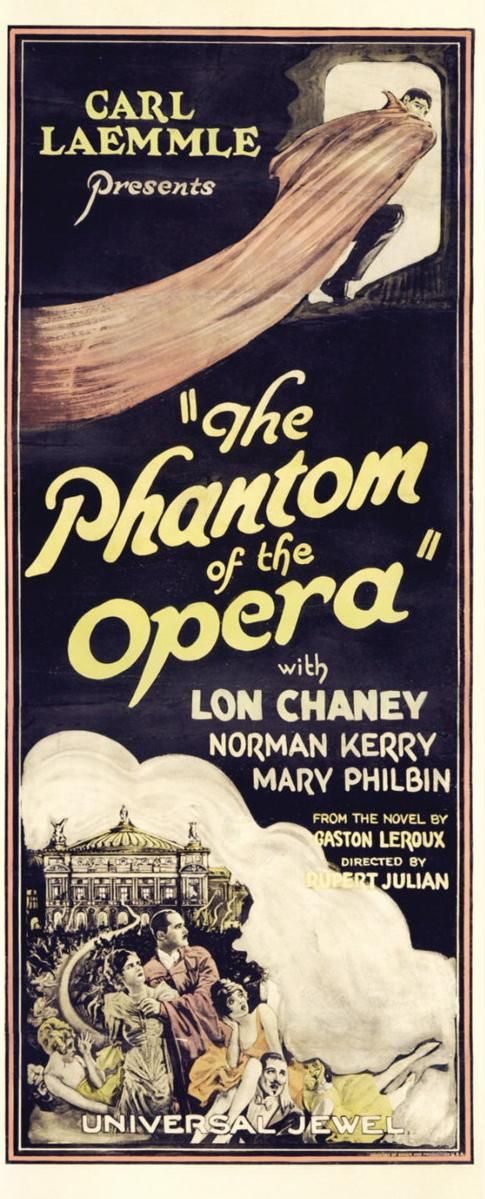 #The_Phantom_of_the_Opera, 1925. #silent #film #poster