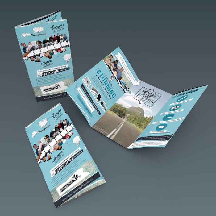 TriFold Brochure  Combining Collage And Illustrations  Design
