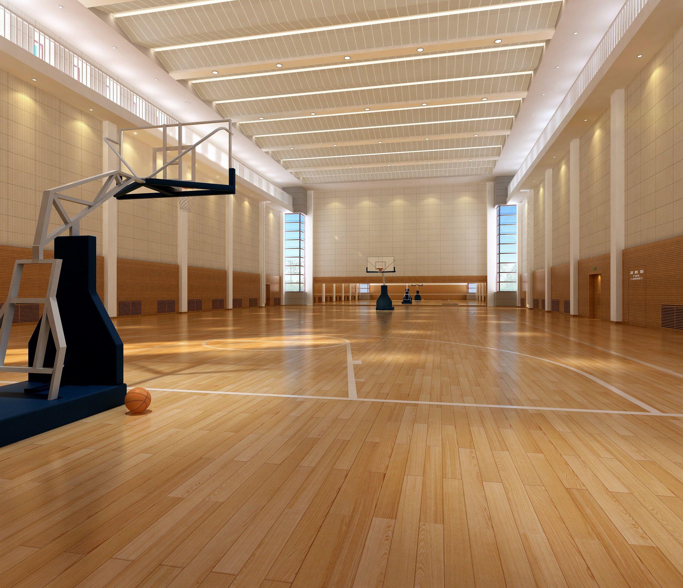 Basketball Gymnasium Arena 002 3d Model Flatpyramid Indoor Basketball Court Home Basketball Court Indoor Basketball