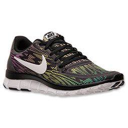 Women's Nike Free 5.0 V4 Running Shoes   FinishLine.com   Black/White/
