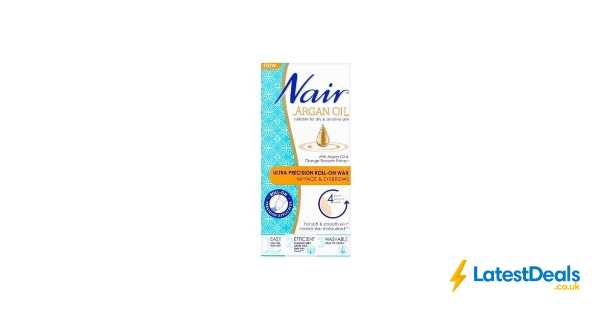 Nair Argan Oil Precision Face Eyebrow Roll On Wax 15ml Free Cc